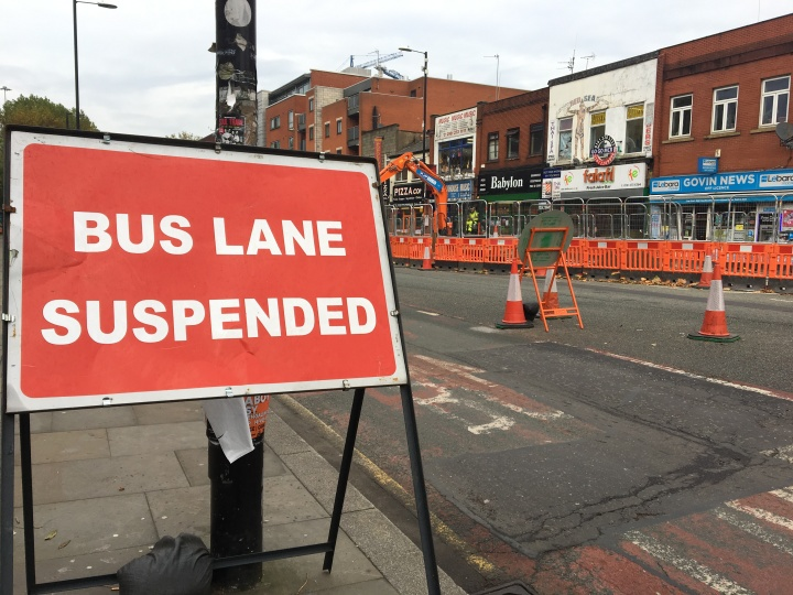 Roadworks on Oxford Road
